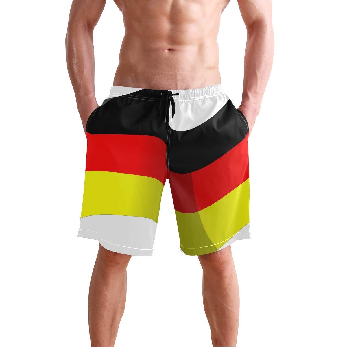 MONTOJ German Flag Fly Beachwear Men Shorts Adjustable Pull Cord