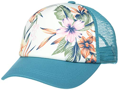 Roxy Girls' Big Little Mermaid Ocean Town Trucker Hat, Biscay Bay, 1SZ ()