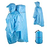 Best Travel Ponchos - Overmont One Piece Waterproof Raincoat Rain Poncho Review