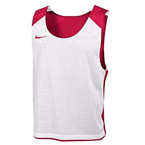 Nike Mens Reversible Mesh Tank - Nike Men's Lax Reversible Mesh Tank - Scarlet/White (Size: XXS/XS)