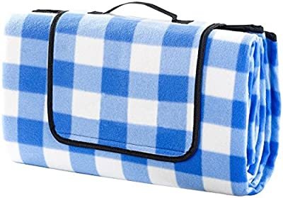 ALLWA XXX-Large 69x79 Inch Outdoor Blanket - Waterproof Picnic Blanket - Easy To Fold and Portable Beach Blanket- Family Perfect For Beach, Travel, Picnic Camping