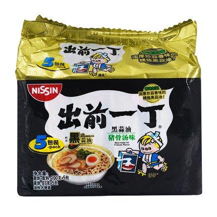 (Nissin Demae Ramen Instant Noodle 3.5oz (Tonkotsu Pork with Galic Oil, 5 Packs))