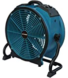 XPOWER X-41ATR 1/3 HP 3600 CFM Variable Speed Axial Air Mover with 3-Hour Timer and Dual Outlets for Daisy Chain, 2.8-Amp