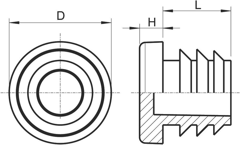 Rohrau/ßendurchmesser: 30mm, Rohrwandst/ärke: 1-2mm, Wei/ß Rundstopfen Schutzkappen 20 St/ück Rund-Rohrstopfen Lamellenstopfen ALLE GR/Ö/ßEN W/ÄHLBAR 10mm bis 42mm M/öbelgleiter