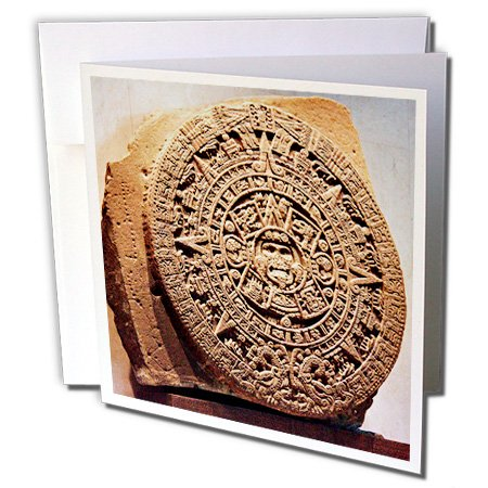 Price comparison product image 3dRose Mexico City, Sun stone called Aztec calendar - SA13 MGL0000 - Miva Stock - Greeting Cards, 6 x 6 inches, set of 12 (gc_86737_2)