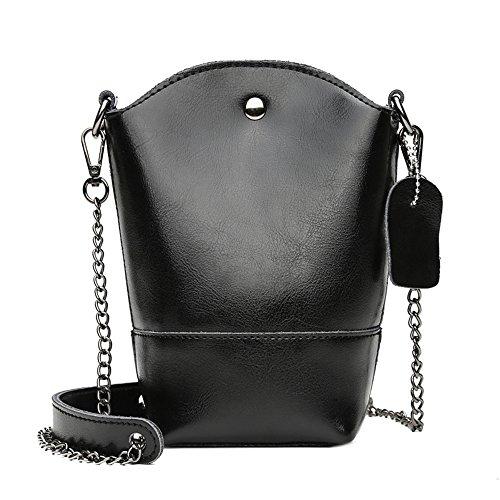 GWQGZ El Bolso De La Nueva Dama Es Una Tendencia Simple De La Moda. Marrón Black