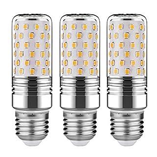 GEZEE 15W LED Cylindrical Bulb, 3000K(Warm White), E26 LED Light Bulbs 120 Watt Equivalent,1500lm, LED Chandelier Bulbs, Non-Dimmable LED Lamp(3-Pack)