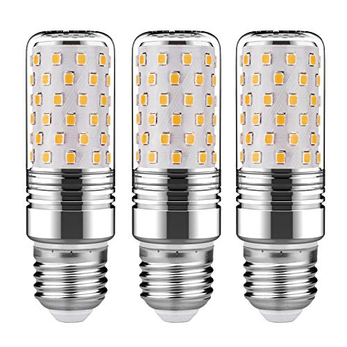 GEZEE 15W LED Cylindrical Bulb, 3000K(Warm White), E26 LED Light Bulbs 120 Watt Equivalent,1500lm, LED Chandelier Bulbs, Non-Dimmable LED Lamp(3-Pack)