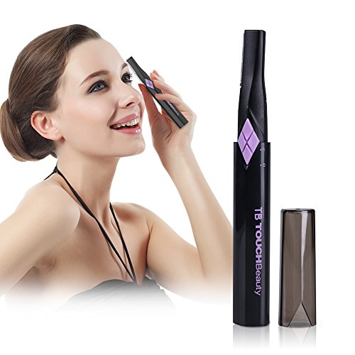TOUCHBeauty Eyebrow Hair Trimmers for Women Facial Body Hair Shaver with 2 Cutting Head Battery Powered TB-1158