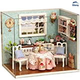 Kisoy Romantic and Cute Dollhouse Miniature DIY House Kit Creative Room Perfect DIY Gift for Friends,Lovers and Families(Kitchen For Love)