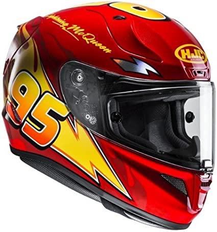 Taille XL HJC Casque Moto RPHA 11 Flash Mcqueen Cars Rouge//Jaune