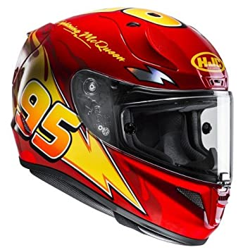 HJC Moto Casco Rpha 11 Flash McQueen Cars, color rojo/amarillo, talla XS