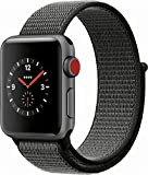 Apple Watch Series 3 (GPS + Cellular) MQJT2LL/A 38mm Space Gray Aluminum Case with Dark Olive Sport Loop (Renewed)