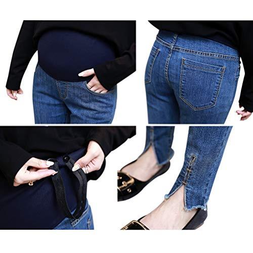 Elastico Vita Pantaloni Deylaying Incinta Donna In 3 Maternity Jeans Con Stile Tqdqw8Y