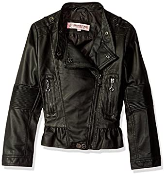 Amazon.com: Urban Republic Girls' Faux Leather Moto Jacket: Clothing