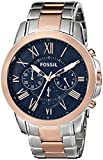 Fossil Men's FS5024 Grant Chronograph Two-Tone Rose and Silver Stainless Steel Watch