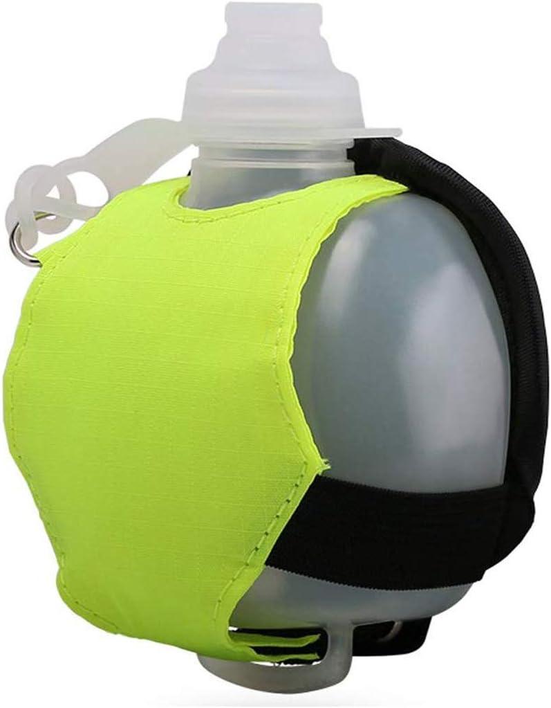 soyar ligero y duradero Running botella de agua, aplicar para ciclismo, caminar, correr, deportes, ocio y todas las actividades al aire libre (verde fluorescente)