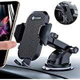 Andobil Car Phone Mount Easy Clamp, Ultimate Hands-Free Phone Holder for Car Dashboard Air Vent Windshield, Super Suction Compatible for iPhone 11/11 Pro/8 Plus/8/X/XR/XS/7 Plus Samsung S20/S10/S9/S8