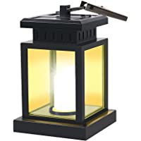Solar Lanterns Outdoor Hanging, GVSHINE Solar Powered Led Umbrella Lights, Partable Vintage Waterproof Candle Light with Clip Used for Camping Yard Garden Lawn Patio Pathway Lighting & Decoration