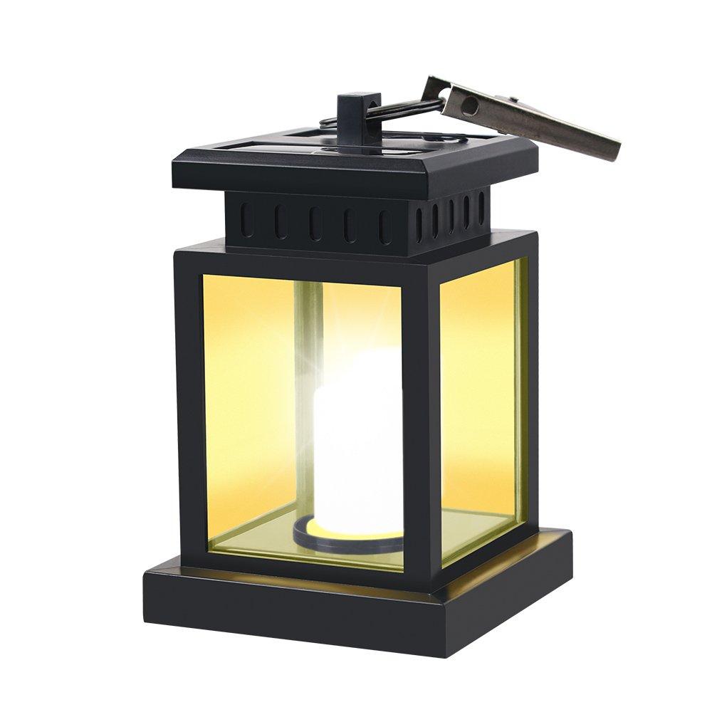 HKYH LED Solar Mission Lantern, Vintage Solar Powered Waterproof Hanging Umbrella Lantern Candle Lights Led with Clamp Beach Umbrella Tree Pavilion Garden Yard Lawn Etc. Lighting & Decoration