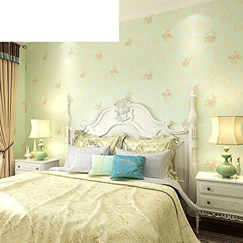 European-style rustic wall/ non-woven wallpaper/Bedroom romantic Pink wallpaper/ acanthus leaves wallpaper-B