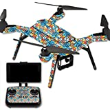 MightySkins Protective Vinyl Skin Decal for 3DR Solo Drone Quadcopter wrap cover sticker skins Sunset Flowers