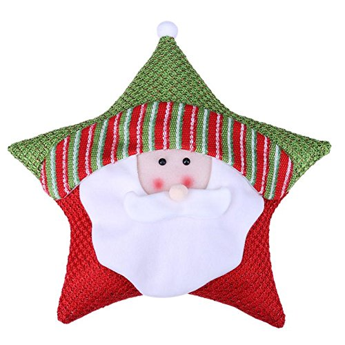 Cushion - Christmas Theme Five Star Cushion Gift Showcase Decor Hugging Pillow Cartoon Home Decoration - Quilt Heel Tape Padding Extra Hoof Travel Replacement Jewelry Blush