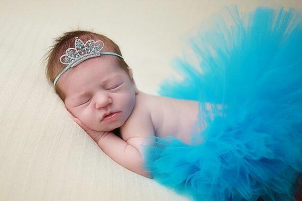 Tukistore Vestiti della tuta del grembiule della ragazza della neonata della neonata Costume Foto Prop Abiti Abbigliamento con fascia per capelli