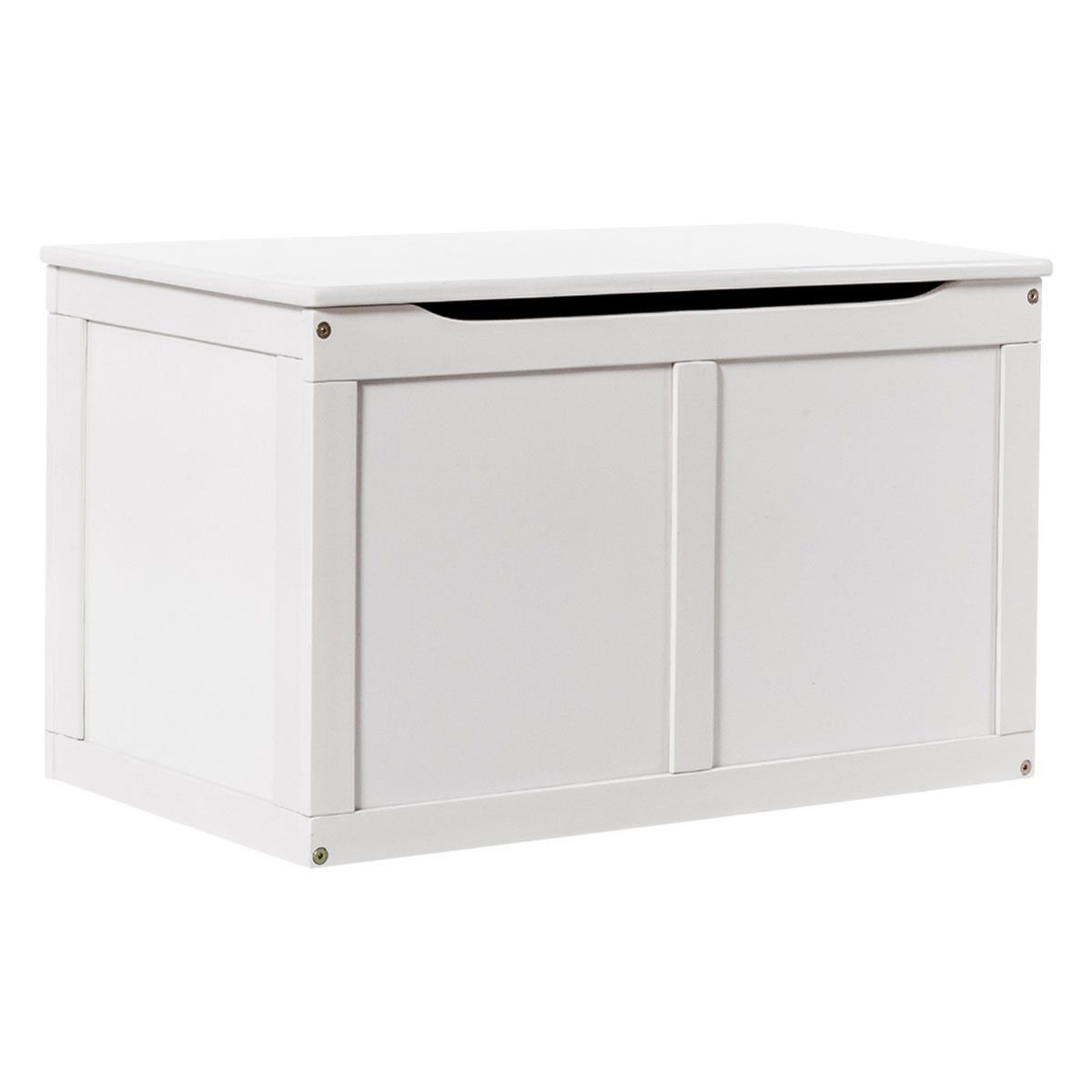 Costzon Wooden Toy Box, Entryway Sitting Bench Top, Toy Storage Chest Organizer With 2 Safety Hinge & Lid for Kids (White)