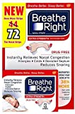 Breathe Right Extra Nasal Strips, 72 Count