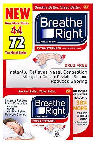 Breathe Rite Strips - Breathe Right Extra Nasal Strips, 72 Count