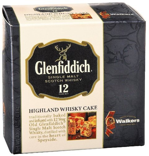Walkers Glenfiddich Whisky Fruit Cakes-14.1 oz (Dundee Cake Christmas)