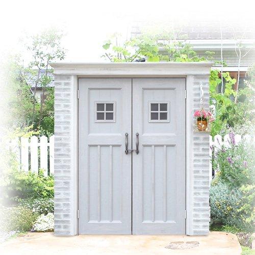 ガーデン収納 物置 ディーズシェッド カンナ フレンチシック D125サイズ イメージ:シャビーグレー B073XXXTWZ