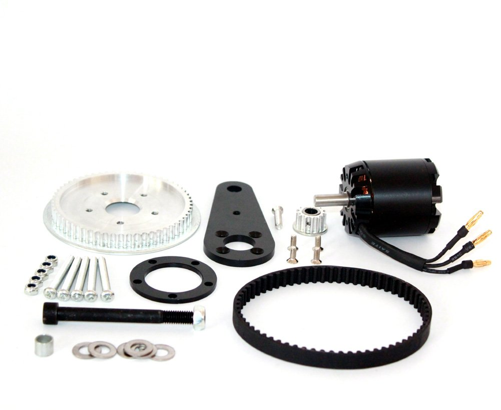 L-faster Town 7XL Electric Scooter Conversion Kit Customized Belt Drive For PU Wheel DIY High Speed Electric Kickscooter Motor (kit without motor) (kit with motor)