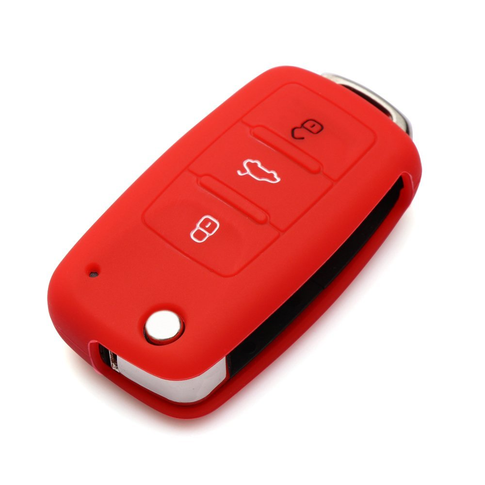 9 Moon® Silicone Remote Flip Key FOB Silicone Case Cover For VW Volkswagen New by 9 MOON (Image #7)