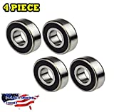 4-PIECES 6204-2RS Ball Bearing 20x47x14mm, Rubber Sealed Deep Groove Best Quality