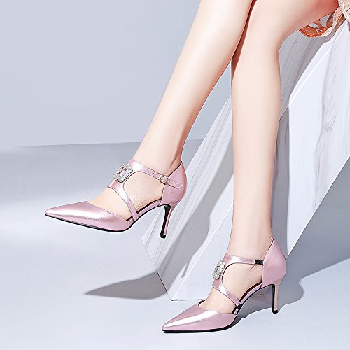 rose Thirty-four ZHUDJ talons hauts Rose Au Printemps