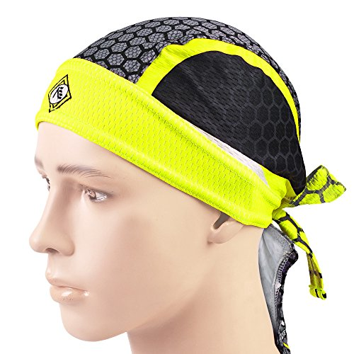 NUCKILY Fashionable Sunscreen Style Breathable Skull Cap Lace-up Windproof Cycling Scarf Black Yellow -  FO SHAN NUCKILY SPORT PRODUCTS CO.,LTD, PJ0405