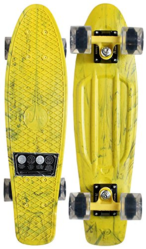 PENNY PLASTIC SKATEBOARD Complete Cruiser MARBLE YELLOW 22