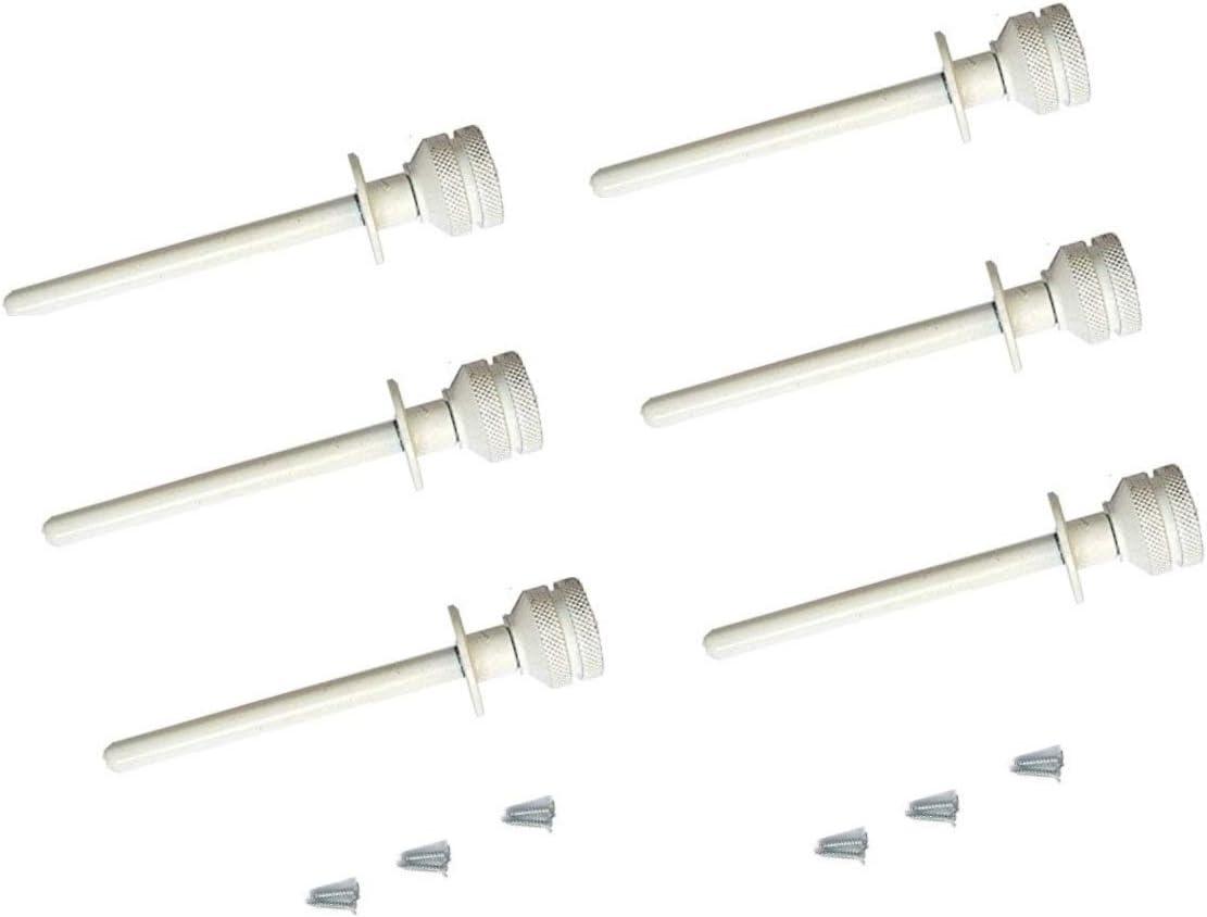 Pasador seguro corredera/persiana Blanco PACK 6 UDS (BLANCO)
