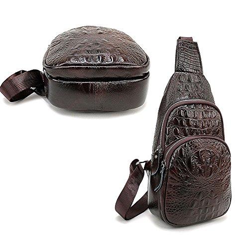 Ivotre vera pelle borsa a tracolla per uomini alla moda Gordon Deall spalla Satchel zaino, impermeabile durevole per party, viaggio–caffè