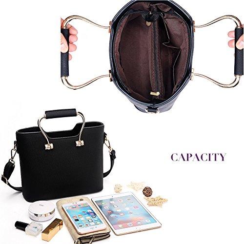 Spalla Donna Bag PU Borse Mano Fashion a borsa rosa1 a Designer G pelle Borsa AVERIL qYtHv
