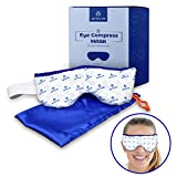 Eye Mask for Dry Eyes - Microwavable, Moist Heat Eye Compress Pad | Good for Pink Eye, Blepharitis and Stye Treatment Relief | Ultra Absorbent, Washable and Reusable with Storage Pouch