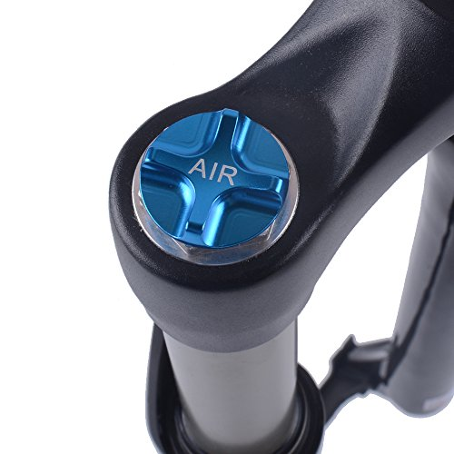 CNC Mountain Bike Bicycle Air Gas Fork Parts Crown Valve Cap Cover Protector for FOX MANITOU SUNTOUR ROCKSHOX 2 Pieces (Bike Fork Bicycle Parts)
