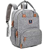 Lil Elephant Diaper Bag Backpack | Diaper Backpack Diaper Bag, Baby Bag | Stylish Travel Back Pack For Girls Or For Boys, Waterproof, Gray
