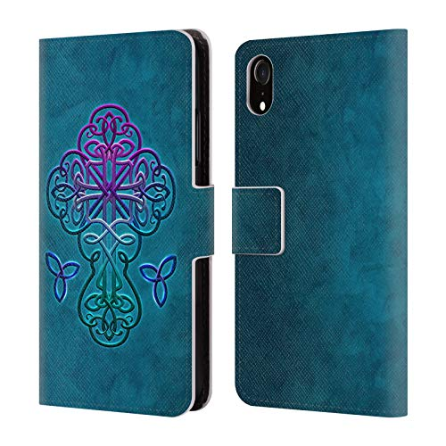 Official Brigid Ashwood Celtic Crosses Leather Book Wallet Case Cover for iPhone XR
