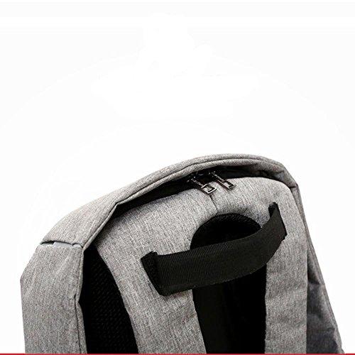 Anti - Robo Casual Hombro Bolso Hombres Y Mujeres Al Aire Libre Deportivo Mochila Simple Multifunción Carga Viaje Bolsa Bolsa De La Cámara , light gray Black