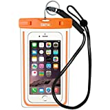 "EOTW IPX8 Universal Waterproof Case for Smartphone Device to 6"" Fit iPhone X/8/8plus 7plus/6plus Samsung Galaxy s8/s8plus/s7 Google Pixel HTC10,for Water Parks/Beach/Cruise/Pools"