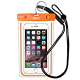 EOTW Waterproof Case Bag Waterproof Dry Bag with Military Class Lanyard; IPX8 Certified to 100 Feet for Kayaking Swimming, Fit iPhone 6 6s 5s SE, Galaxy S7 S6 S5, Note 5 4, LG Blu HTC -Orange+Black