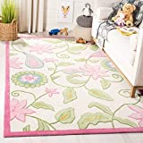 Safavieh Safavieh Kids Collection SFK351A Handmade Ivory and Pink Cotton Area Rug (3' x 5')